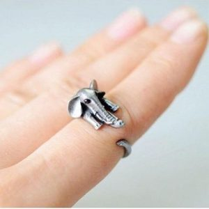 elephant wrap around ring image