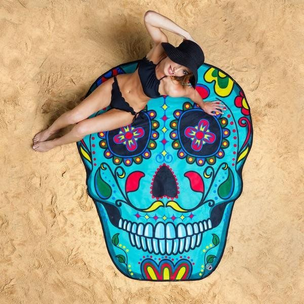 Sugar Skull Beach Blanket Towel image photo