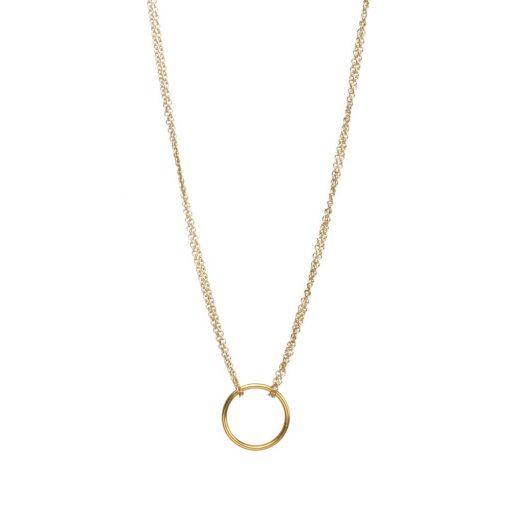 Gold Karma Pendant Necklace