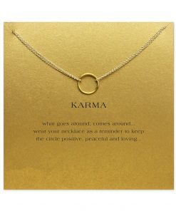 Gold Gold Karma Pendant Necklace