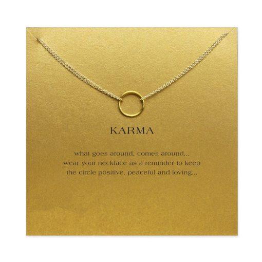 Gold Gold Karma Pendant Necklace