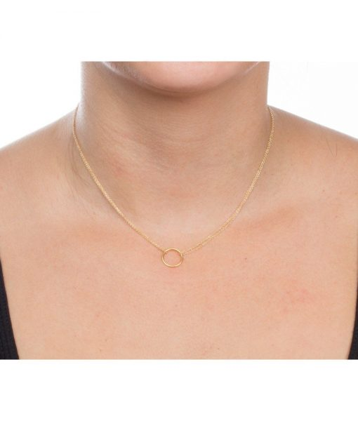 gold-double-chain-karma-circle-pendant-necklace-wr