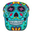 mandala-sugar-skull-beach-blanket