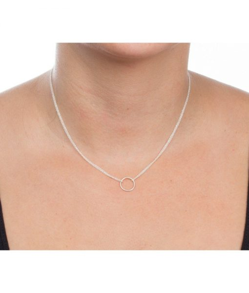silver-double-chain-karma-circle-pendant-necklace-wr