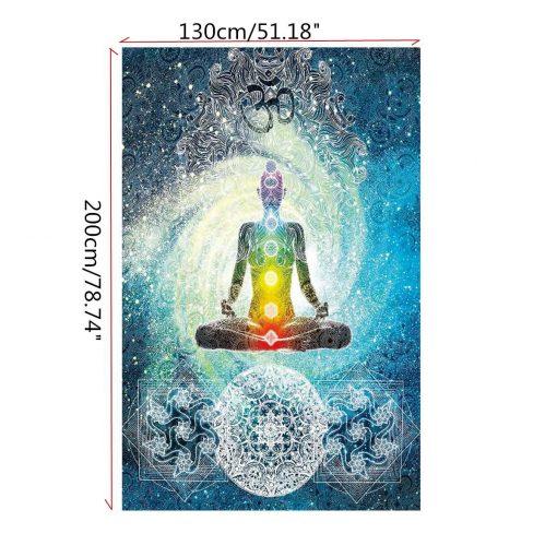 yoga chakra healing blanket image