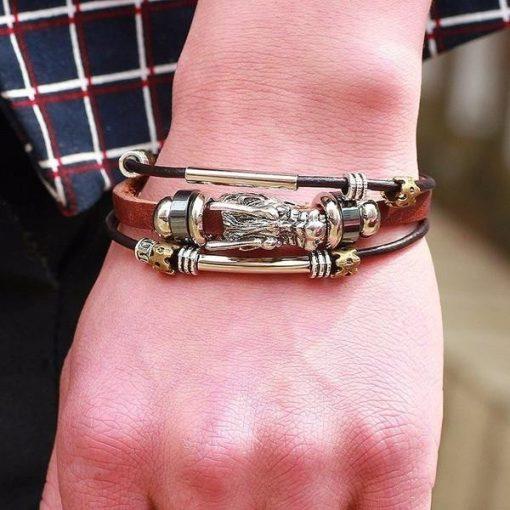 Tibetan Dragon head Bracelet hand image