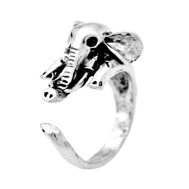 vintage elephant hug ring image