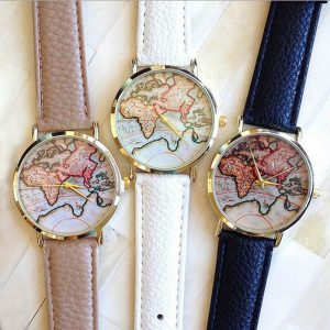 vintage wanderlust map watch colors