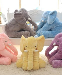 Fluffy Large Elephant Plush Toy image