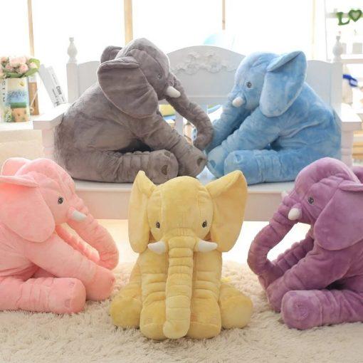 fluffy large elephant plush toy