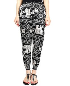 Black Classic Elephant Harem Pants image