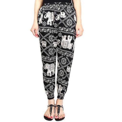 Black Classic Elephant Harem Pants