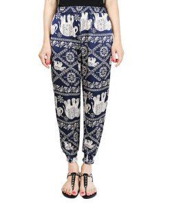 Blue Elephant Harem Pants