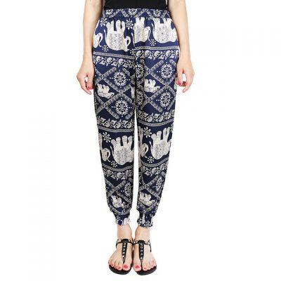 blue Classic Elephant Harem Pants image