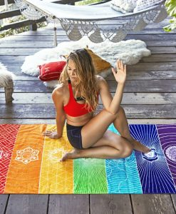 divine rainbow chakra tapestry image