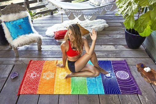 7 Chakra Bohemian Meditation Tapestry