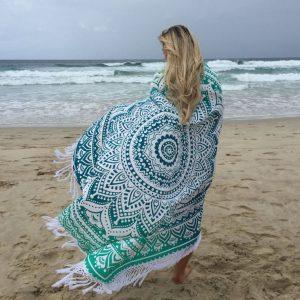 Oceana Ombre Mandala Roundie with Fringe