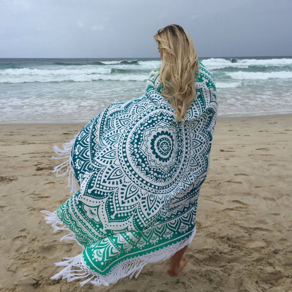 Mandala Roundie with Fringe