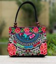 pink mandala flower shoulder handbag