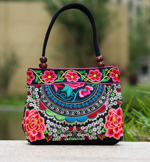 pink-mandala-flower-shoulder-handbag