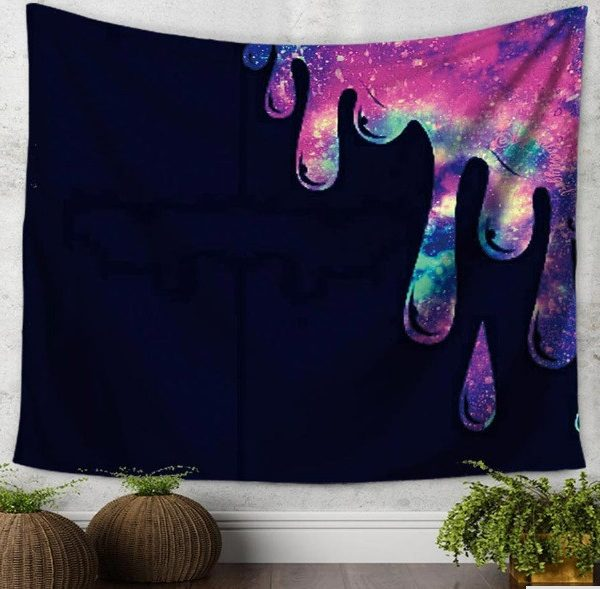 purple bohemian tapestry droplet
