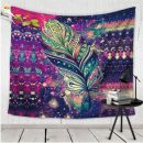 purple bohemian tapestry feather