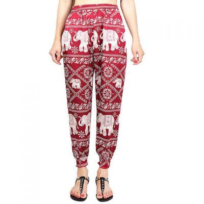red Classic Elephant Harem Pants image