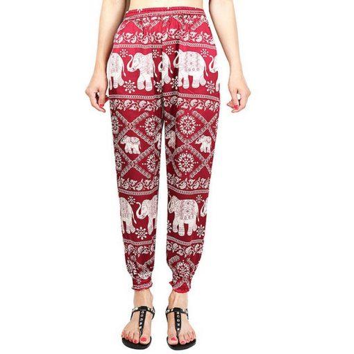 Red Elephant Boho Pants