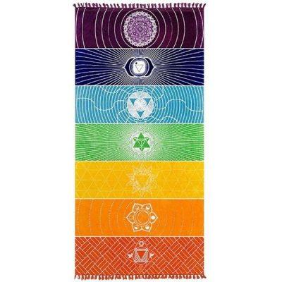 Rainbow Chakra Tapestry cover