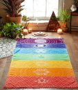 colorful divine rainbow chakra tapestry photo image cover