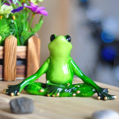 Inspirational Yoga Frog Figure