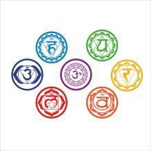 Vinyl Stickers Chakras Symbol Yoga Wall Decals