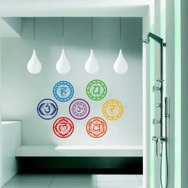 Vinyl Stickers Chakras Symbol Yoga Wall Decals