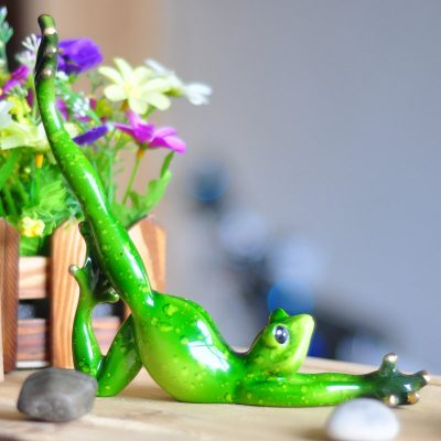 Inspirational Yoga Frog Figurine