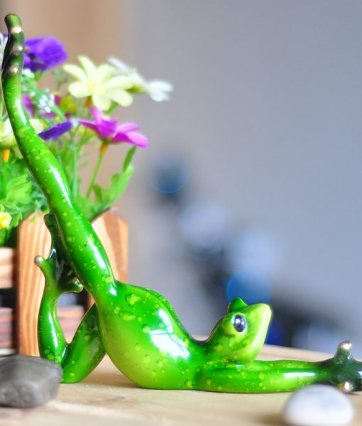 Inspirational Yoga Frog Figurine