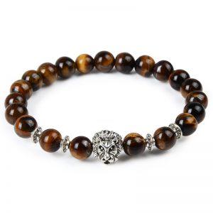 Animal Natural Stone Beads Bracelets lion