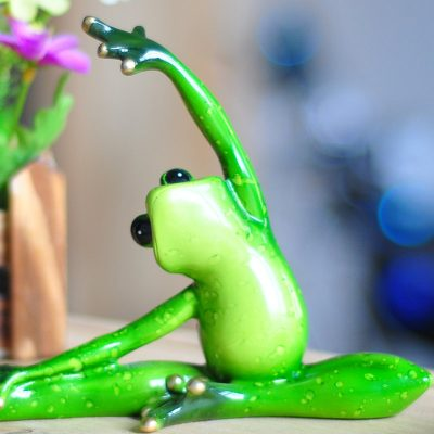 Inspirational Yoga Frog Figurines