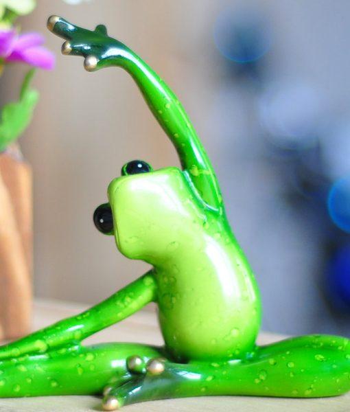 Inspirational Yoga Frog Figurines