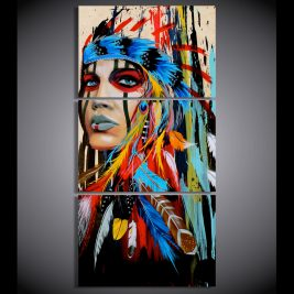 American Indian 3 Piece Canvas Art