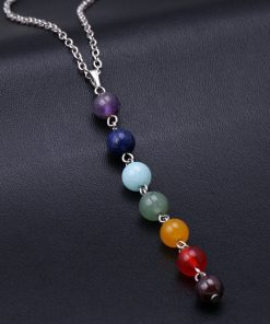 7 Chakra Gem Stone Beads balancing Necklace