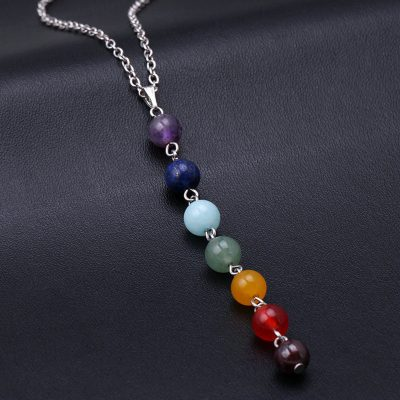 7 Chakra Gem Stone Beads balancing Necklace