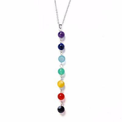 7 Chakra Gem Stone Beads Healing Necklace