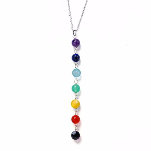 7 Chakra Gem Stone Beads Healing Necklace