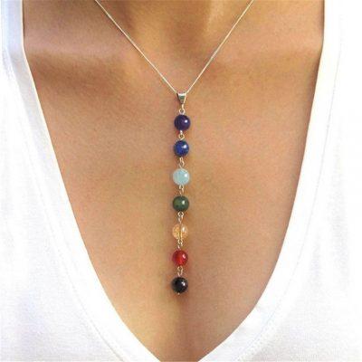 7-Chakra-Gem-Stone-healing-Pendant-Necklace-Women