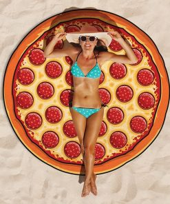 Burger Pizza Donut Beach Blanket