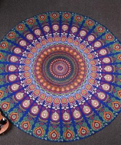 MULTIPURPOSE MANDALA THIN PEACOCK THROW/BLANKE