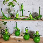 Inspirational Yoga Frog Figures