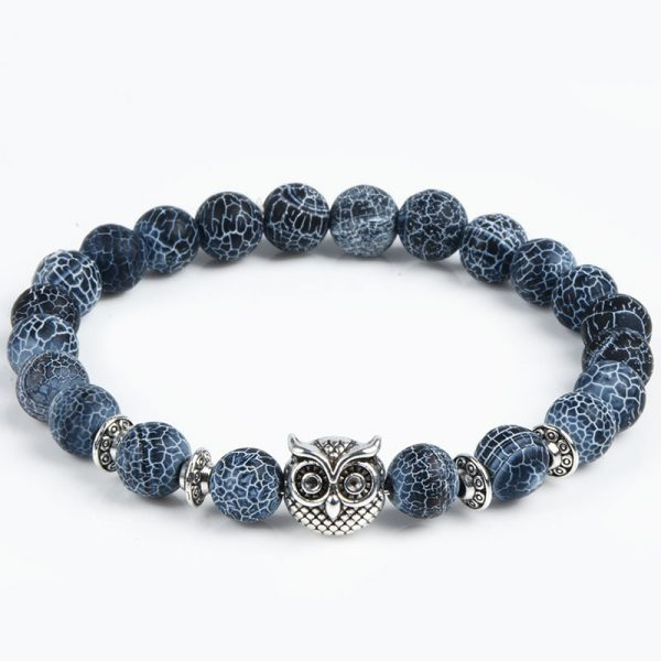 Animal Natural Stone Beads Bracelets owl
