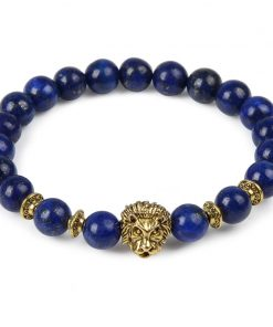 Animal Natural Stone Beads Bracelets lion