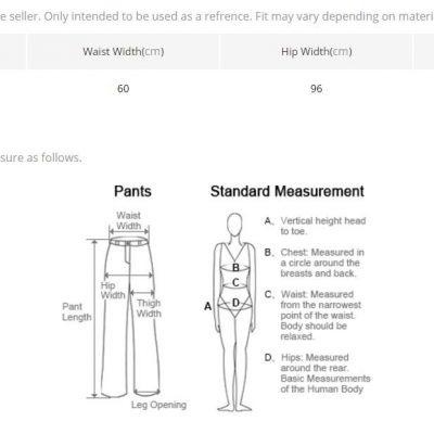 Mandala Leggings size Chart